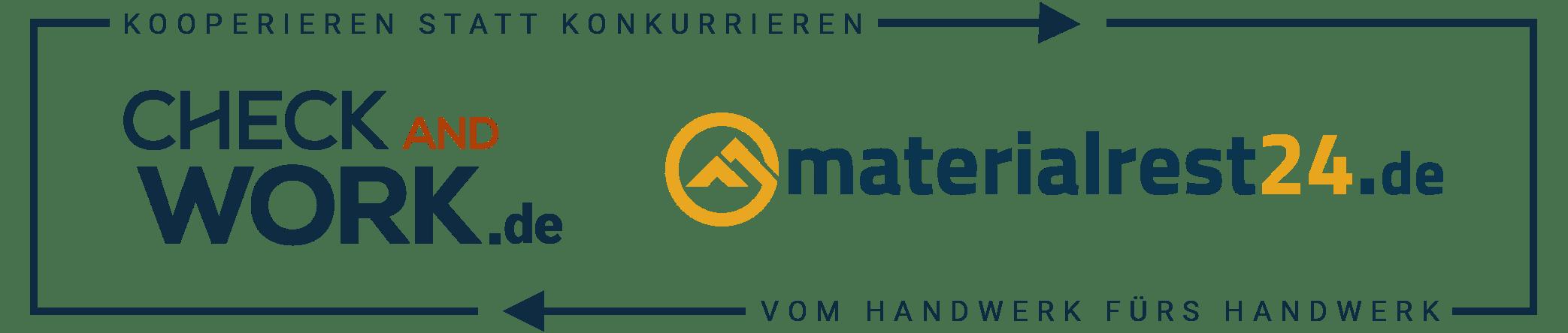 Kooperationslogo Checkandwork Materialrest24