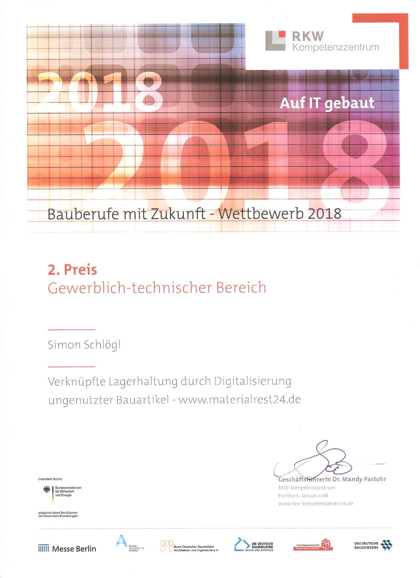 Urkunde Auf It Gebaut 001