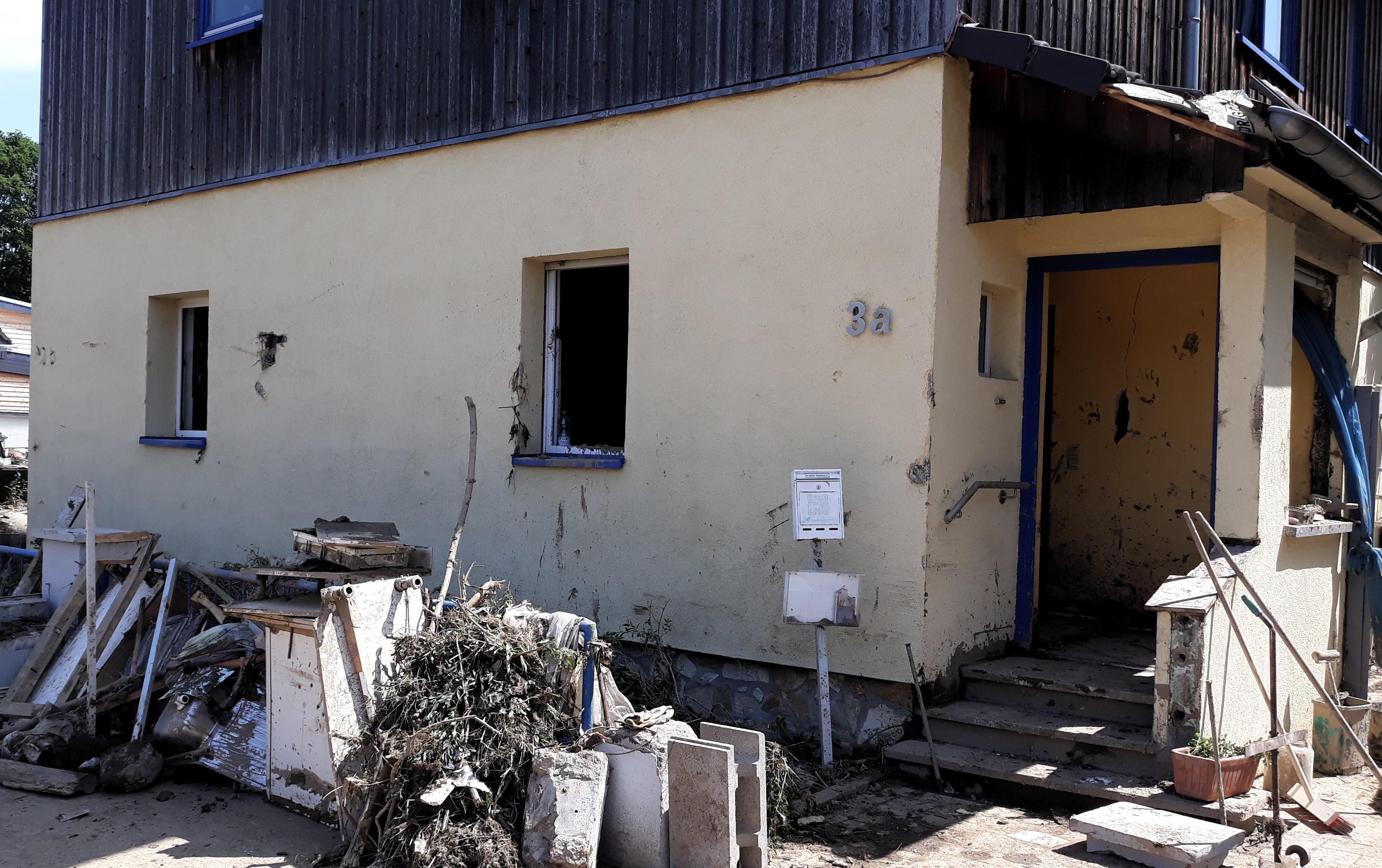 Flutkatastrophe Ahrtal überflutetes Haus