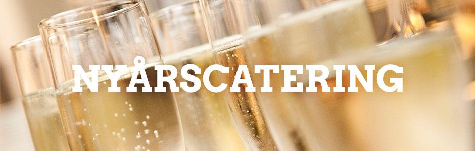 Nyårscatering, champagneglas