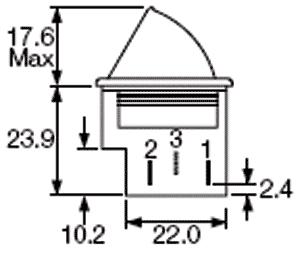 Botão de pressão monoestável tipo frigorífico branco ON-(ON) 250VAC 5A - Arcolectric E3111CAWW