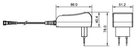 Fonte de alimentação 3.0..12VDC, máx. 2250mA 27W com 8 adaptadores