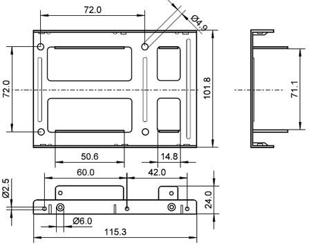 """Kit adaptador para 2 HDD 2.5"""" » 3.5"""""""