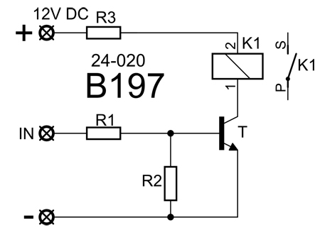 Kit de montagem placa de relé 12VDC - Kemo B197