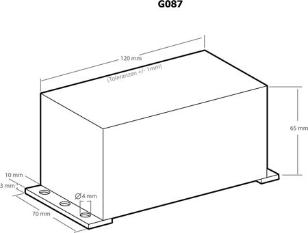 Caixa plástica 120x70x65mm - Kemo G087