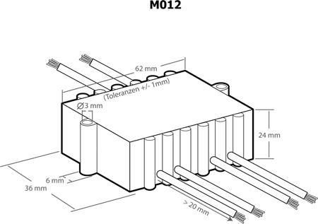 Controlador de potência para motores e lâmpadas 110..240VAC 1200VA - Kemo M012