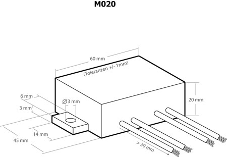 Conversor DC/DC 24VDC > 13.8VDC 1.1A - Kemo M020