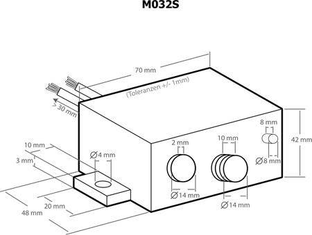 Módulo amplificador universal de áudio 12W Plug&Play - Kemo M032S