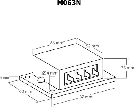 Módulo dimmer para lâmpadas de halogéneo e motores 12VAC 10A - Kemo M063N