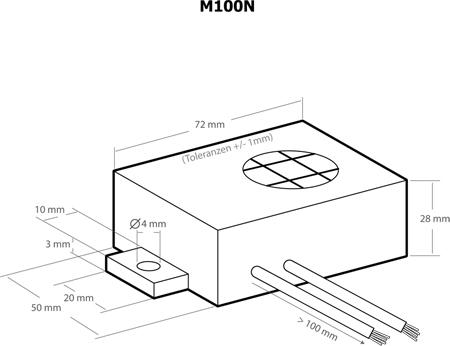 Módulo anti-roedores por ultra-sons para automóvel - Kemo M100N