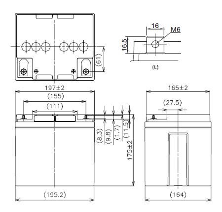 Bateria de Chumbo / Pb / Lead Acid - 12V 42Ah - Panasonic LC-X1242P