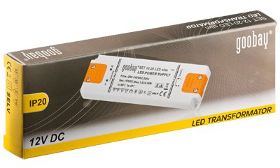 Transformador electrónico para LEDs 12V 0.5-20W - Goobay SET 12-20 LED Slim