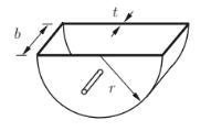 halbkreisförmiger Transportkubel aus Stahlblech