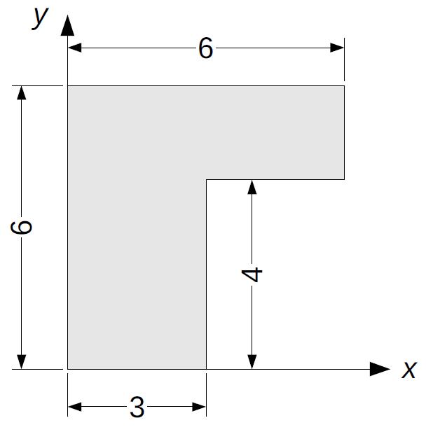 Aus 2 Quadraten zusammengesetzte Fläche