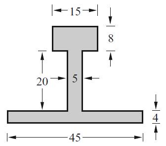 Doppel T- Profil mit angezeichneten Abmaßen