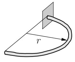 Schnittgrößen halbkreisförmiger Träger.