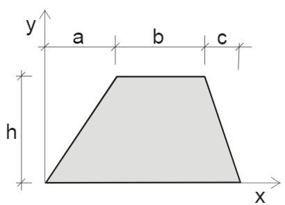 Querschnitt zwei Dreicken und einem Rechteck