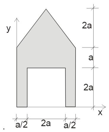 Querschnitt aus einem Dreiecken und zwei Rechtecken