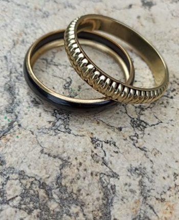 Duo bracelets vintage dorés