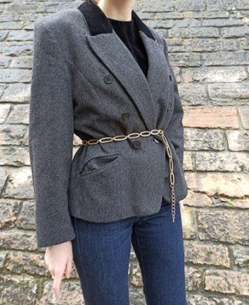 Veste en laine femme vintage velours