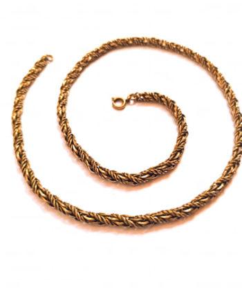 Collier vintage chaîne tressée doré
