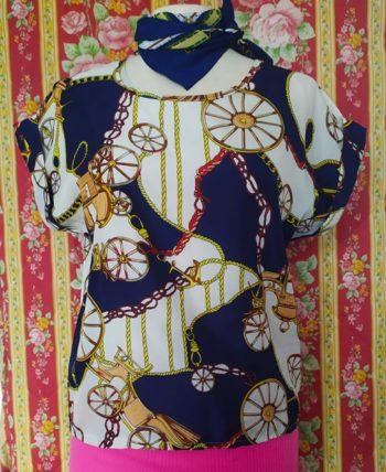 Top motif foulard M
