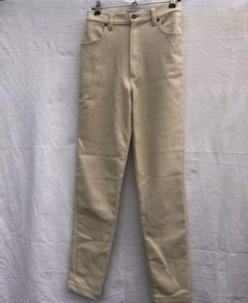 Pantalon blanc cassé taille haute