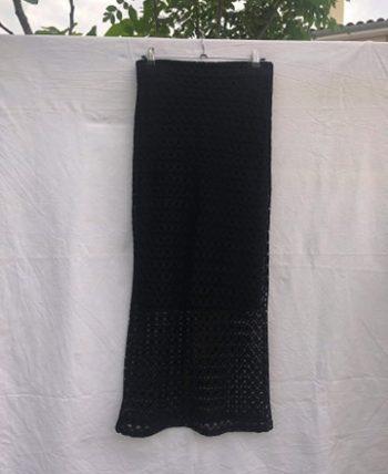 """Jupe noire longue """"filet"""""""