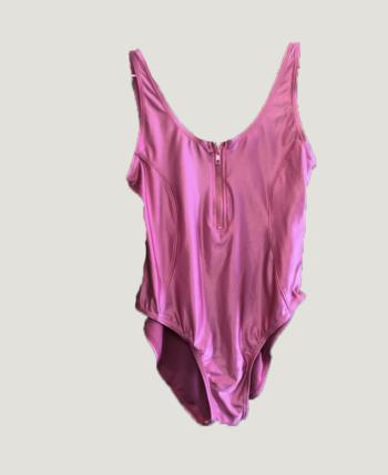 maillot de bain rose électrique 80