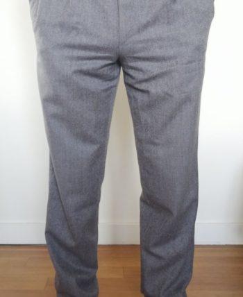 Pantalon à pinces gris clair