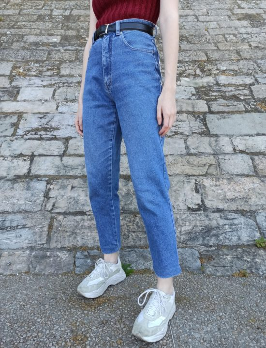 Jean vintage taille haute coupe mom