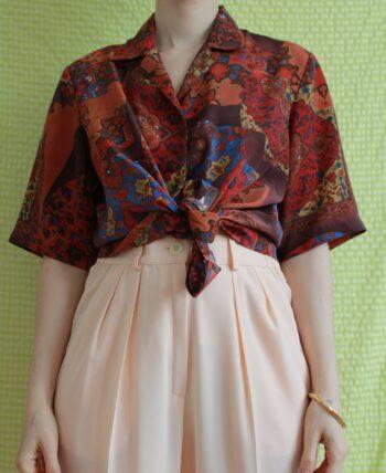 Chemise à motifs 1980 T.40-42