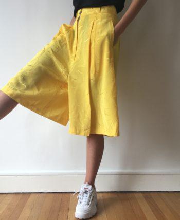Jupe-culotte jaune soleil