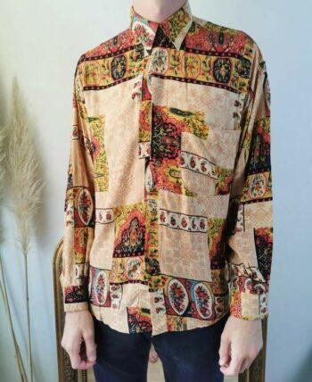 Magnifique chemise à motifs vintage homme