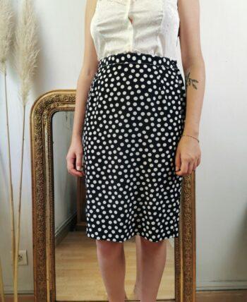 Magnifique jupe à pois vintage taille haute