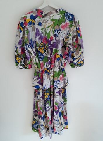 Robe multicolore 80s