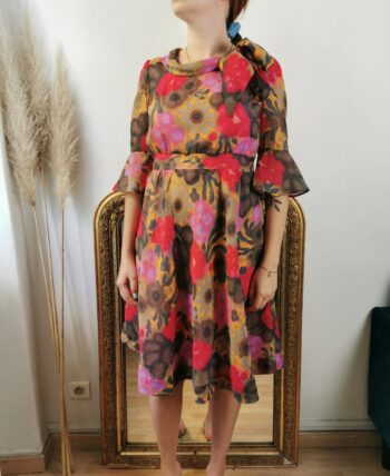 Sublime robe 70s fleurie vintage
