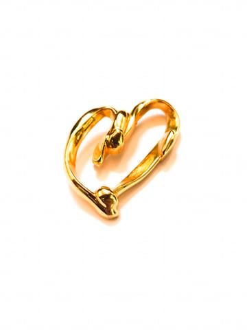 Broche en forme de coeur vintage
