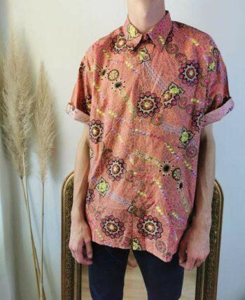 Belle chemise à motifs vintage homme