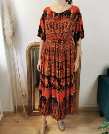 Magnifique robe indienne vintage T U