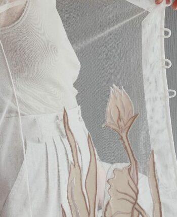 Blouse transparente à fleur