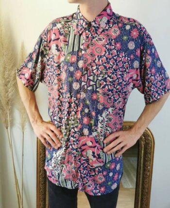Magnifique chemise à motifs homme vintage