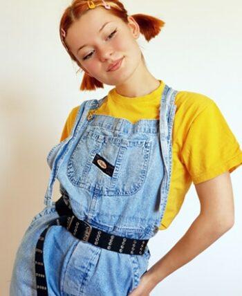 Salopette en jean vintage