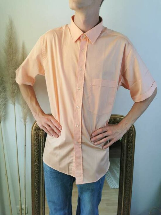 Magnifique chemise homme abricot vintage