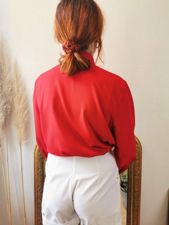 Belle chemise rouge vintage