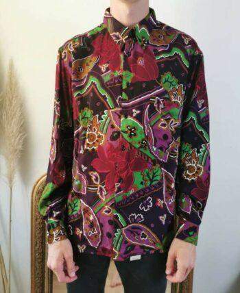 Belle chemise à motifs homme vintage