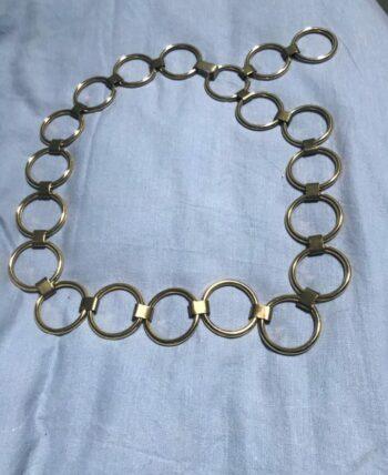 Ceinture chaîne métal doré
