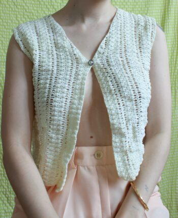 Crop top en crochet T.34