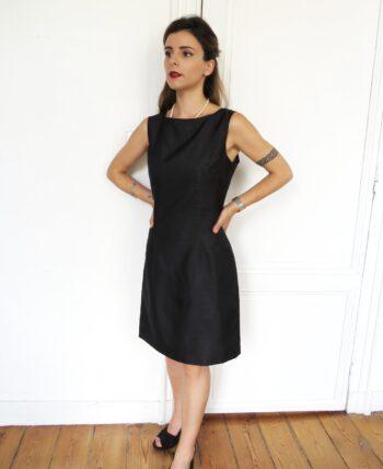 robe soie noir