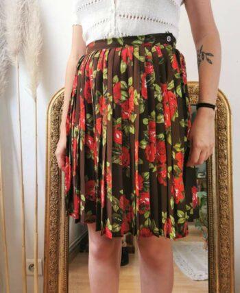 Magnifique jupe à fleurs plissée Cacharel